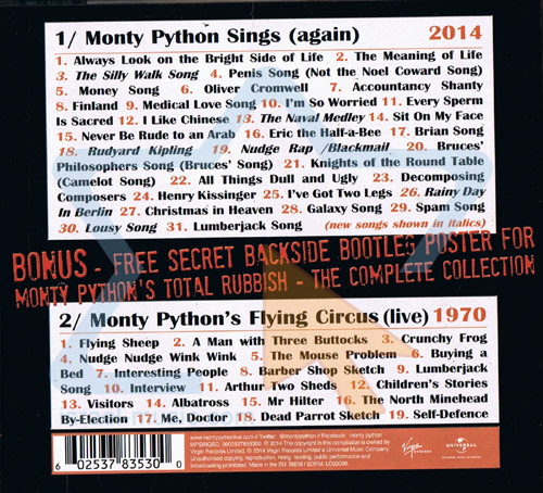Monty Python Sings (again) / Monty Python's Flying Circus (live) by Monty Python