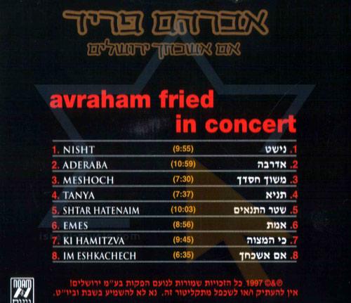 In Concert - Avraham Fried