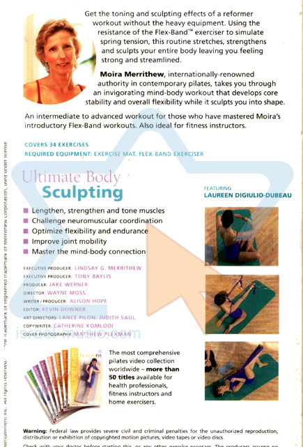 Stott Pilates - Ultimate Body Sculpting by Moira Merrithew