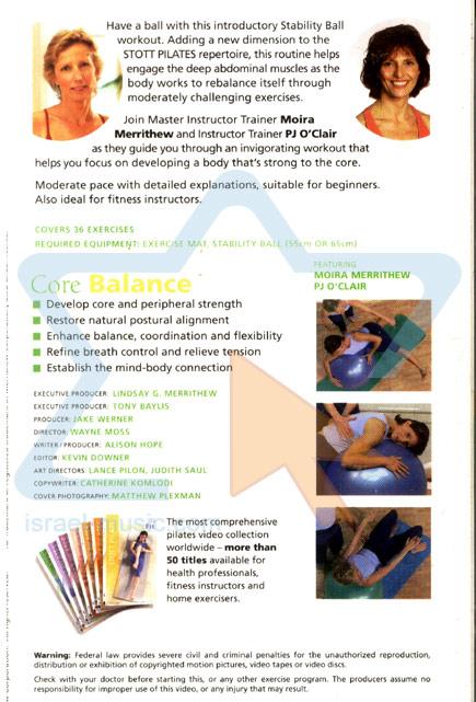 Stott Pilates - Core Balance Par Various