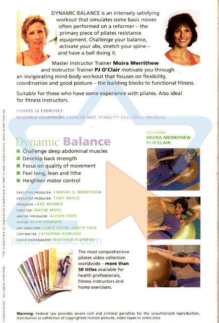 Stott Pilates - Dynamic Balance Par Various