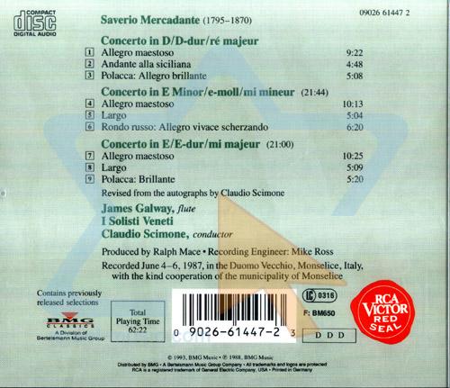 Mercadante - Concertos Par James Galway