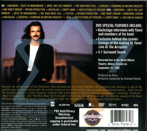 Live at the Acropolis by Yanni