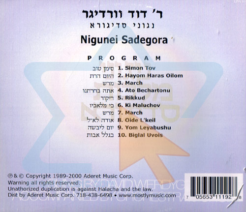 Nigunei Sadegora by Cantor David Werdyger
