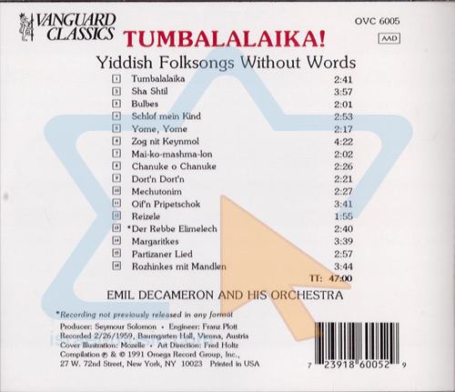 Tumbalalaika! by Emil Decameron and his Orchestra