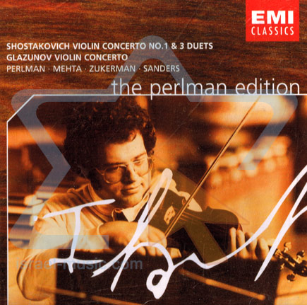 The Perlman Edition: Dmitri Shostakovich and Alexander Glazunov / Violin Concerto No 1 - יצחק פרלמן