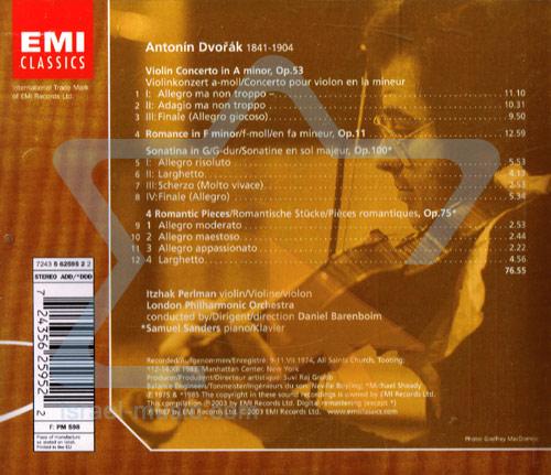 The Perlman Edition: Dvorak: Violin Concerto, Romance by Itzhak Perlman