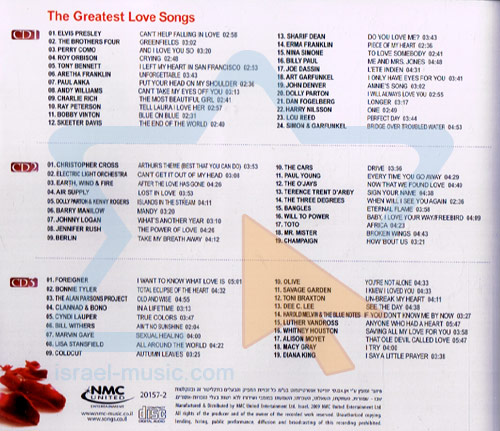 The Greatest Love Songs by Various