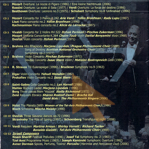 Zubin Mehta & The Israel Philharmonic Orchestra Live Recordings 1963 - 2006 by The Israel Philharmonic Orchestra