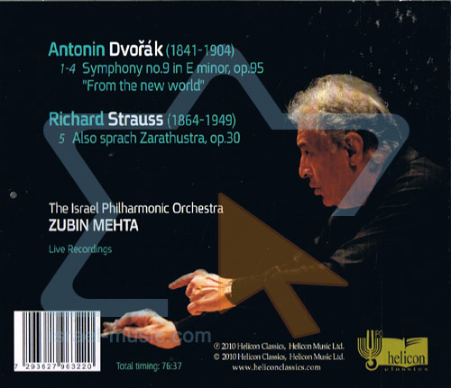 "Dvorak - Symphony No. 9 ""From the New World"" / Strauss - Also Sprach Zarathustra by The Israel Philharmonic Orchestra"