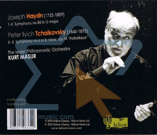 "Tchaikovsky - Symphony No. 6 ""Pathetique"" / Haydn - Symphony No. 88 by The Israel Philharmonic Orchestra"