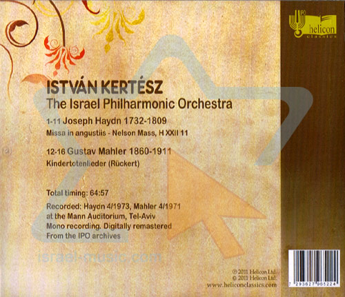 Hayden: Nelson Mass / Mahler: Kindertotenlieder by The Israel Philharmonic Orchestra