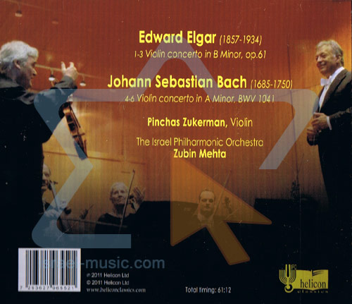 Elgar / Bach: Violin Concertos by The Israel Philharmonic Orchestra