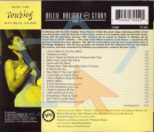 Music for Torching by Billie Holiday