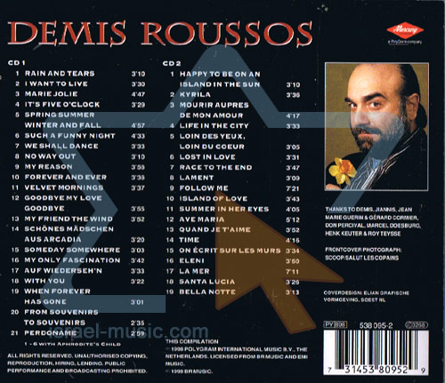 The Phenomenon 1968 - 1998 by Demis Roussos