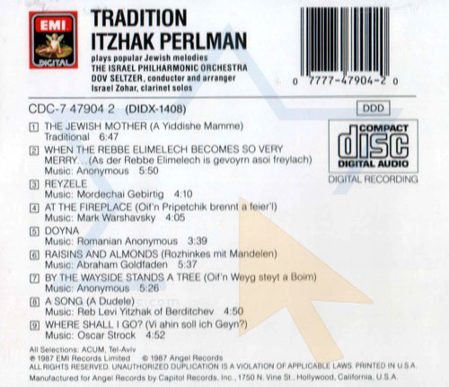 Tradition by Itzhak Perlman