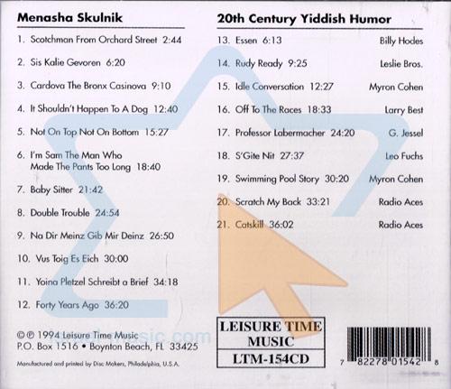 Menasha Skulnik & 20th Century Yiddish Humor by Menasha Skulnik