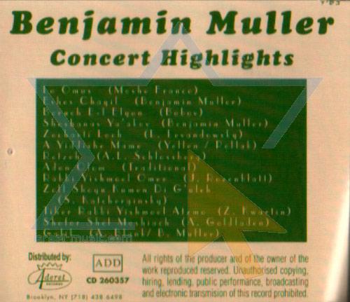 Concert Highlights Par Benjamin Muller
