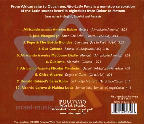 Afro - Latin Party Par Various