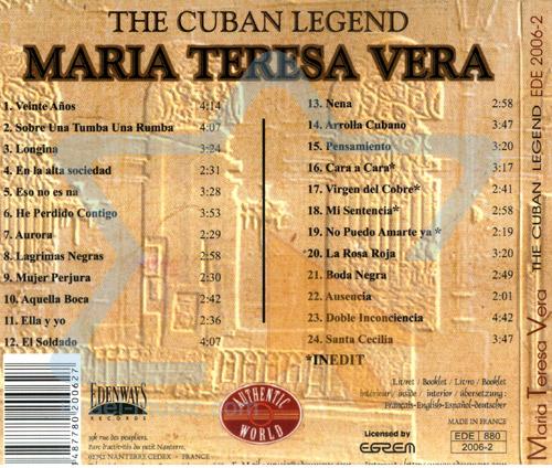 The Cuban Legend by Maria Teresa Vera