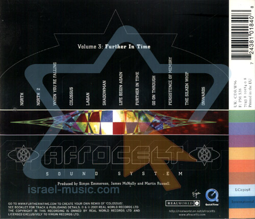 Volume 3 - Further in Time by Afro Celt Sound System