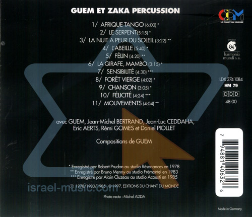 Percussion by Guem and Zaka