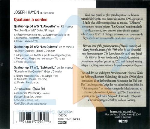 Haydn by Jerusalem Quartet
