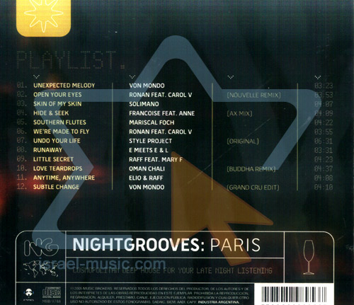Nightgrooves: Paris by Various