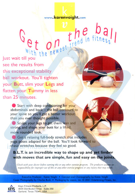 Butt, Legs & Tummy on a Ball Par Karen Voight