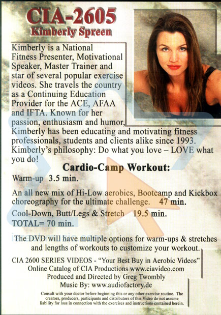 Cardio-Camp Workout by Kimberly Spreen