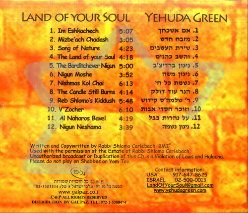 Land of Your Soul by Yehuda Green