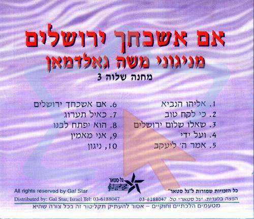 Im Eshkochech Yerusholayim by Camp Shalva Choir