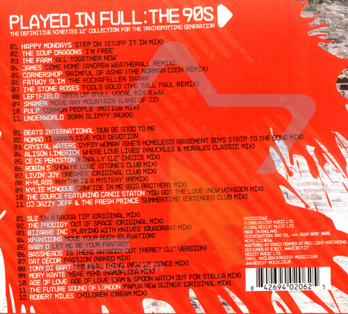 Played in Full: the 90s by Various