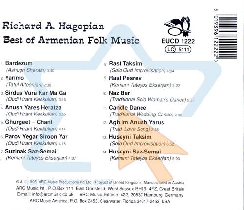 Best of Armenian Folk Music by Richard A. Hagopian