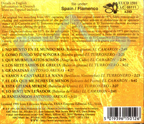 Legends of Flamenco - Camaron de La Isla Par Camaron de La Isla