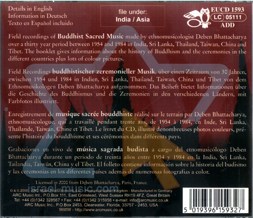Chants & Music from Buddhist Temples by Various