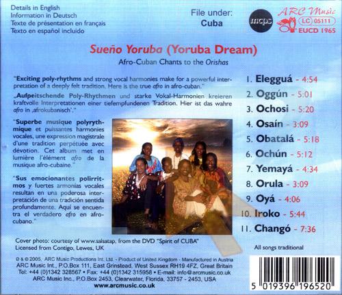 Yoruba Dream - Afro - Cuban Chants by Vocal Baobab