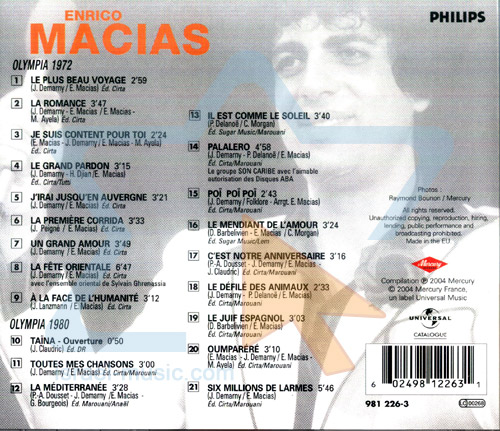 Olympia 1972 / Olympia 1980 by Enrico Macias