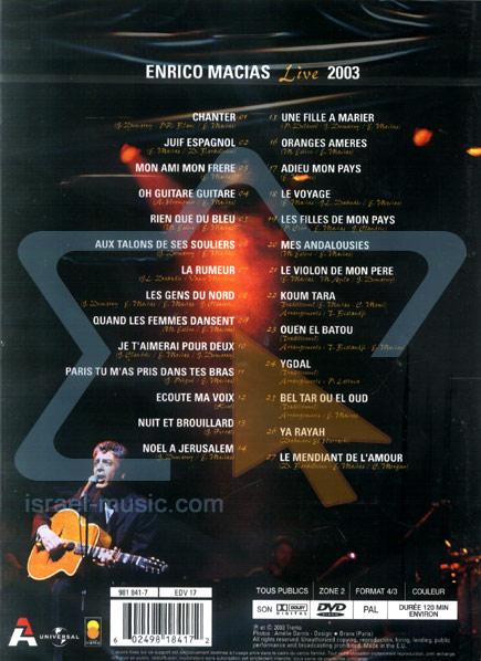 Live 2003 by Enrico Macias