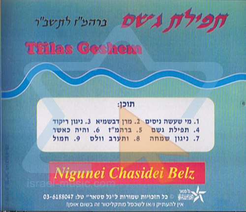 Rain Prayer by Rabbi Yossef Tzvi Brayer
