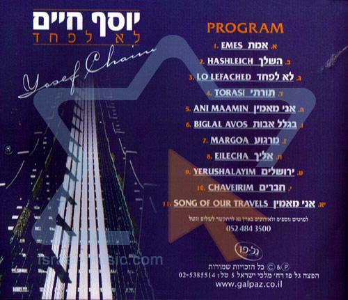 No Fear by Yosef Chaim Shwekey