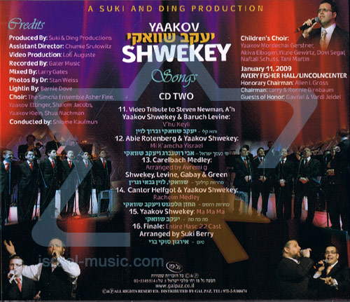 Live In New York - Part 2 Par Yaakov Shwekey