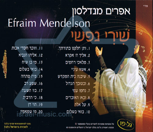 Sing My Heart by Efraim Mendelson