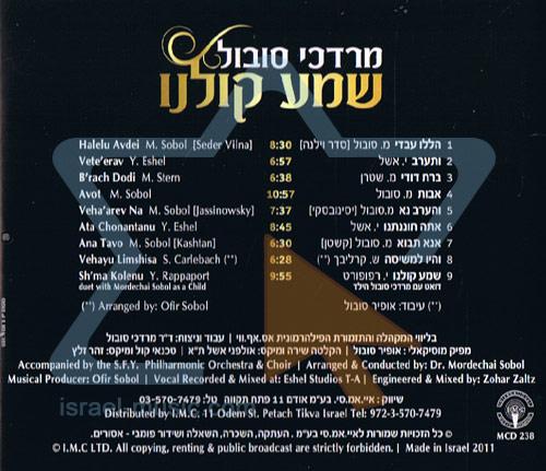 Hear Our Voice by Mordechai Sobol