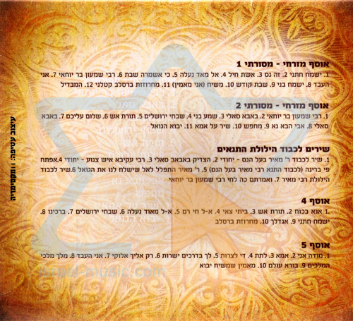 Shabbath and Tradition Songs Collection by Various
