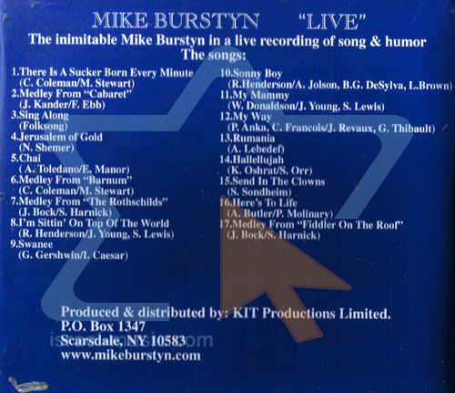 Live by Mike Burstein
