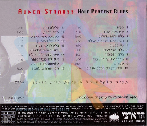 Half Percent Blues by Avner Strauss