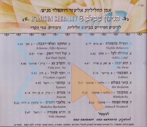 Ha'nigun Shebalev 8 Par Eliezer Rosenfeld